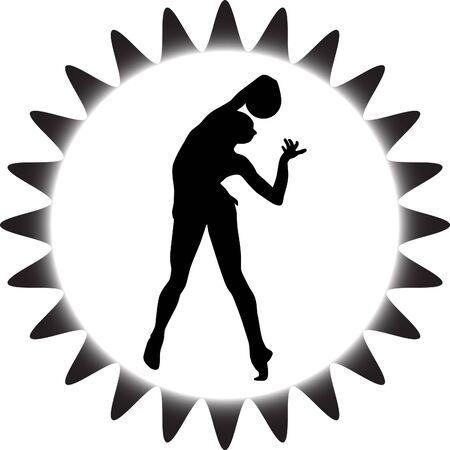 flexible girl: rhythmic gymnastics with ball