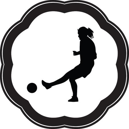 strong women: woman soccer player