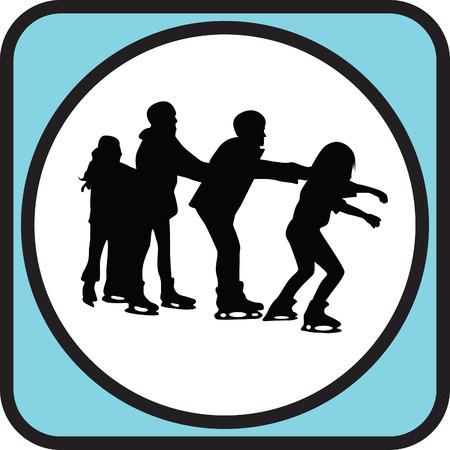 patinaje sobre hielo: patinaje sobre hielo Vectores