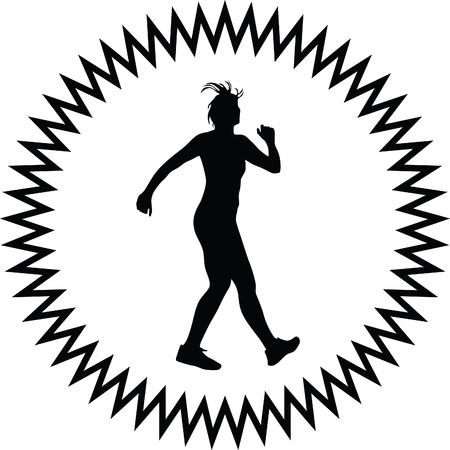 shape silhouette: fitness woman