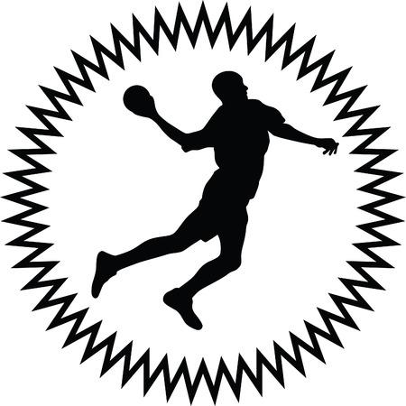 sports balls: handball Illustration