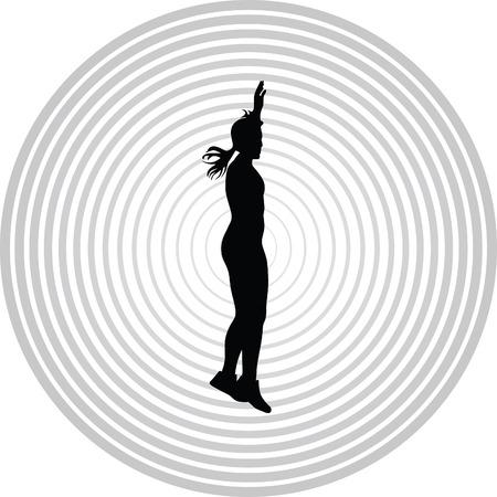 perspiring: fitness woman