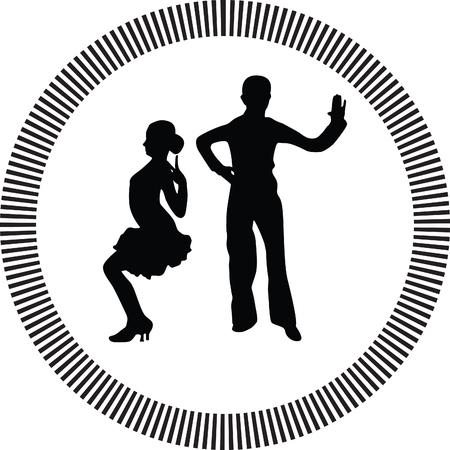 shape silhouette: dance people