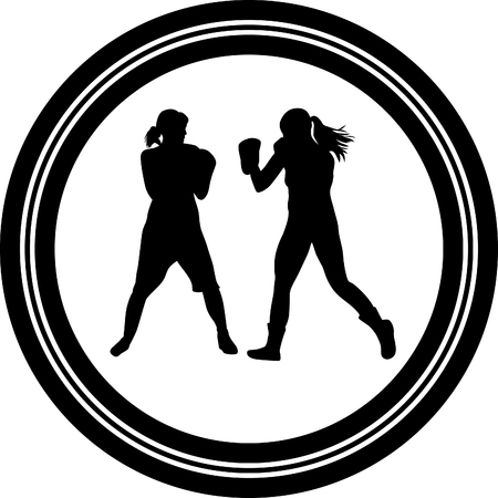 female fighter: boxer woman