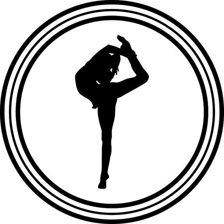 rhythmischen Gymnastik mit Ball