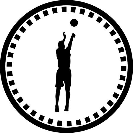basketball shot: basketball player