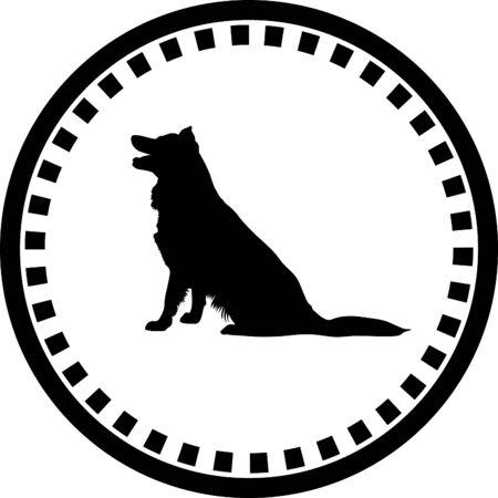 sheepdog: dog silhouette Illustration