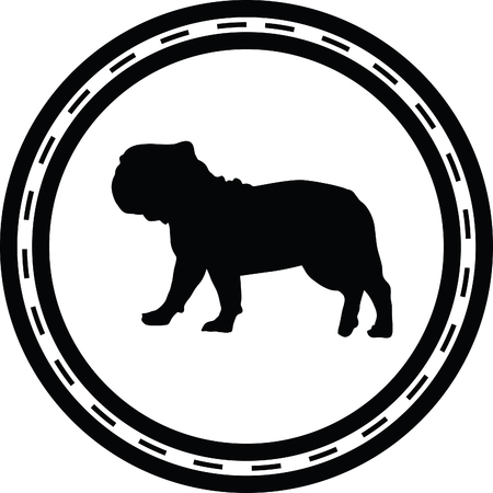 bull mastiff: dog silhouette Illustration