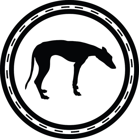 dog silhouette Illustration