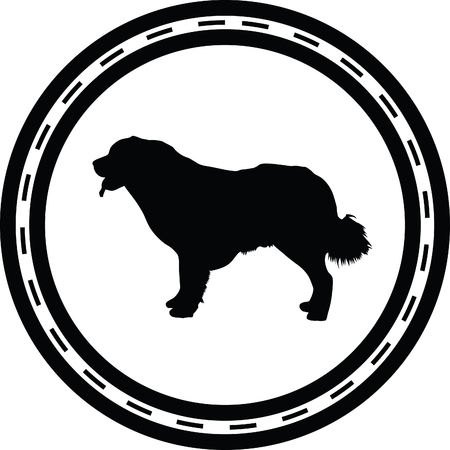 chow: dog silhouette Illustration
