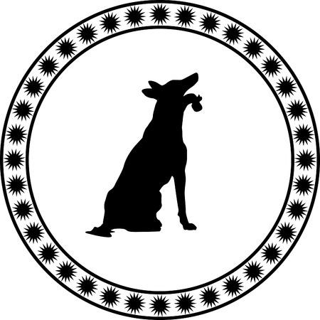 bullmastiff: dog silhouette Illustration