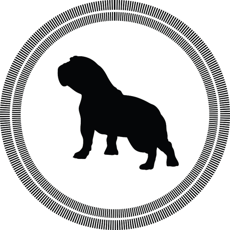 beagle puppy: dog silhouette Illustration