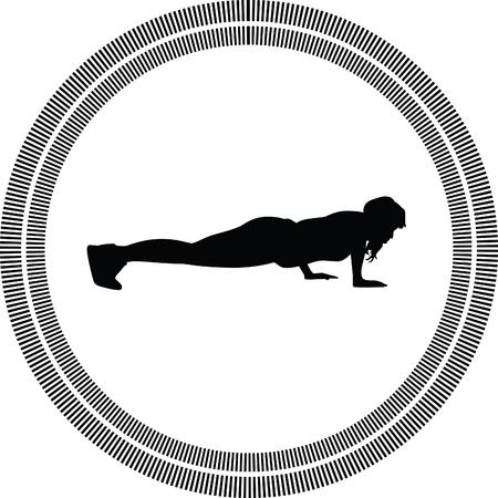silueta humana: fitness mujer Vectores