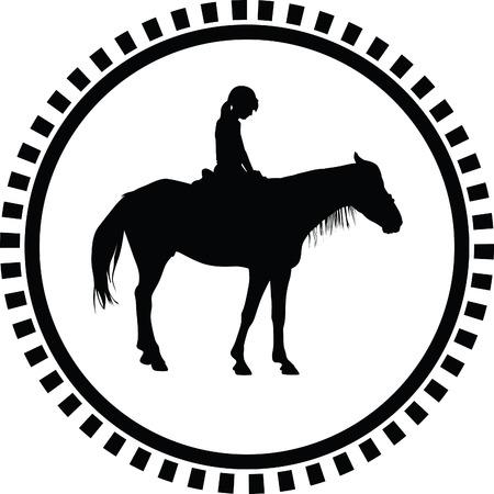 femme et cheval: école d'équitation