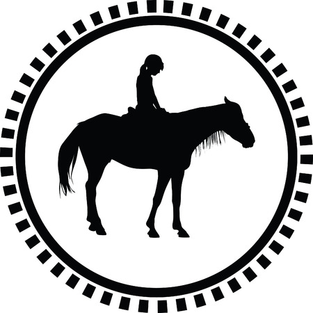 carreras de caballos: escuela de equitaci�n Vectores