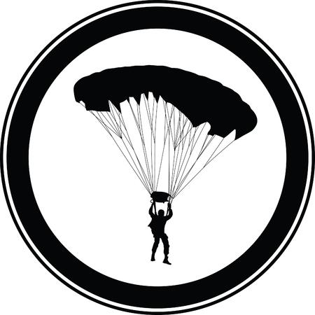 skydiver: parachutist