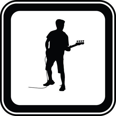 musically: guitarist Illustration