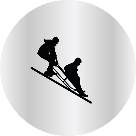 frozen winter: sledding
