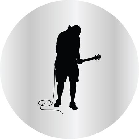 rockstar: guitarist Illustration