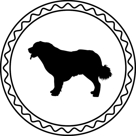 beagle terrier: dog silhouette Illustration