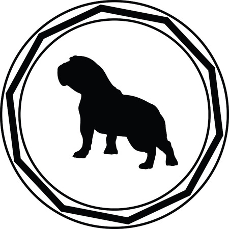 eskimo dog: dog silhouette Illustration