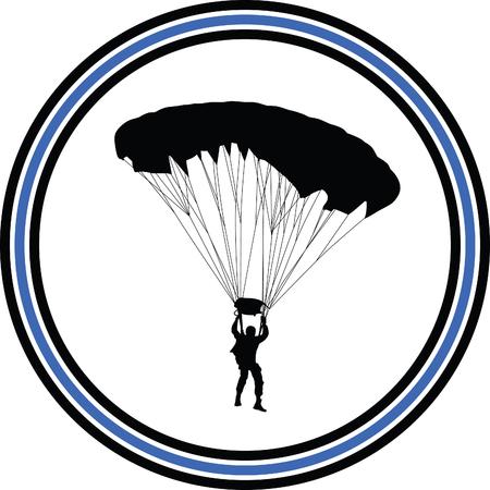 parachute jump: parachutist