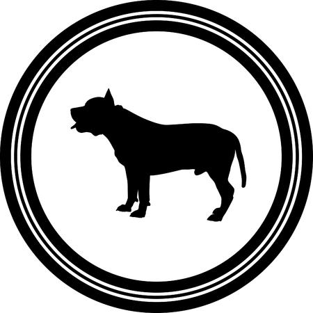 dog silhouette  イラスト・ベクター素材