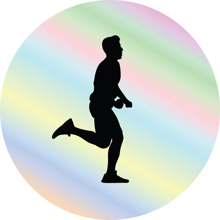mujer deportista: corredor Vectores