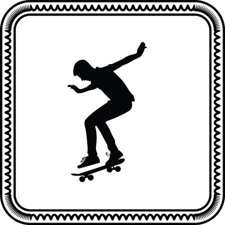 skateboarder: skateboarder Illustration