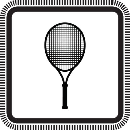 forehand: tennis racket Illustration