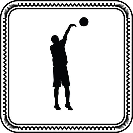 basketball player Stock Vector - 55256522