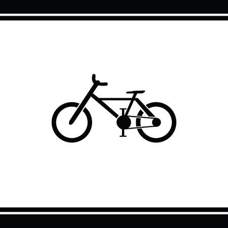 bicicleta vector: bicicleta del icono del vector