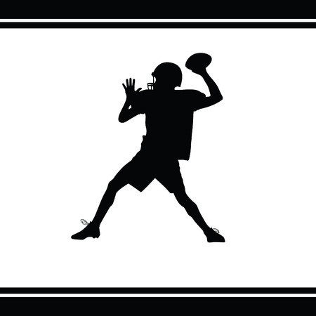 touchdown: American football player Illustration