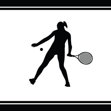 forehand: girl play tennis