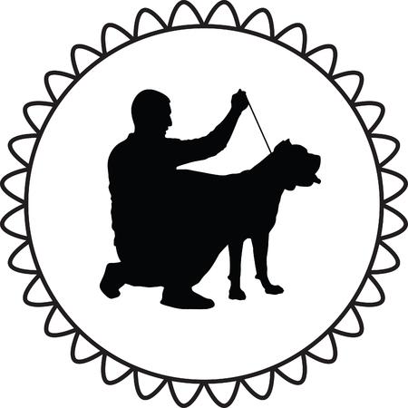 dressage: man and dog
