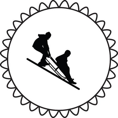 wintery: sledding