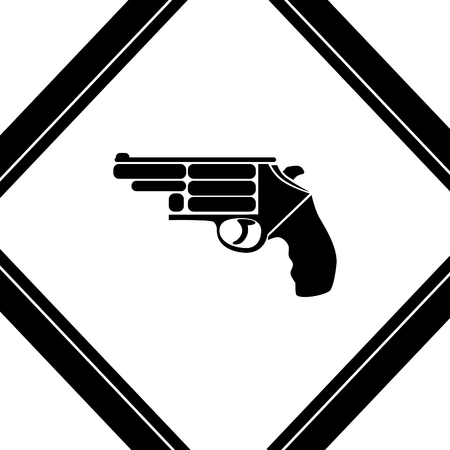 violent: gun vector icon