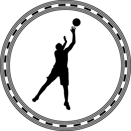 dribble: basketball player