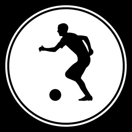 dribble: soccer player