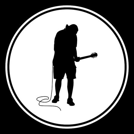 songster: guitarist Illustration