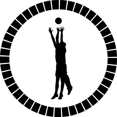 basketball player Stock Vector - 55828778