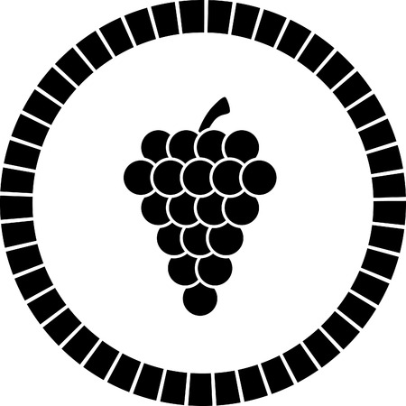 petiole: grape vector icon Illustration
