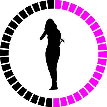 violoncello: violin Illustration