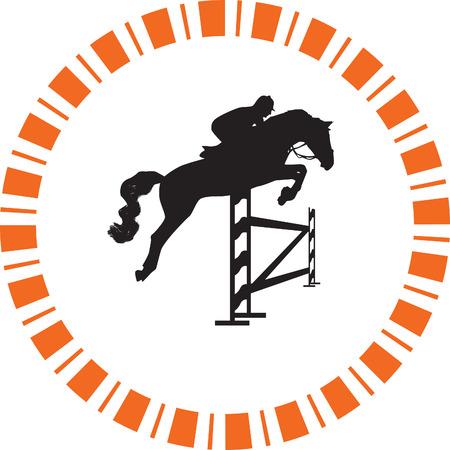 jockey and horse 向量圖像