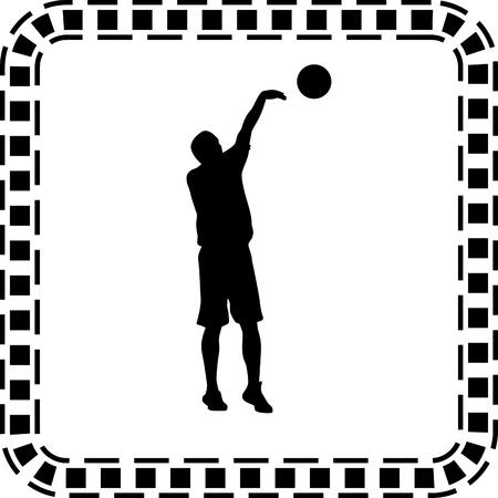 basketball player Stock Vector - 56518490