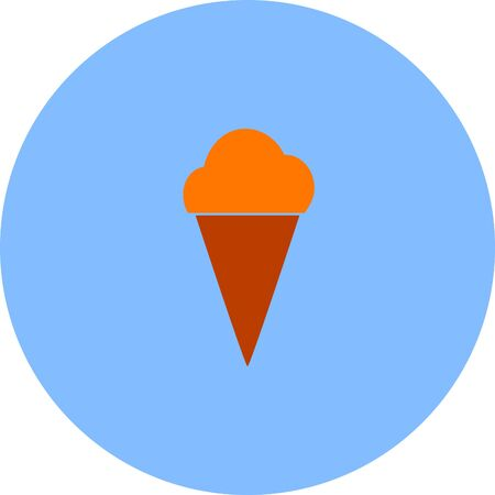 refreshments: ice cream vector icon