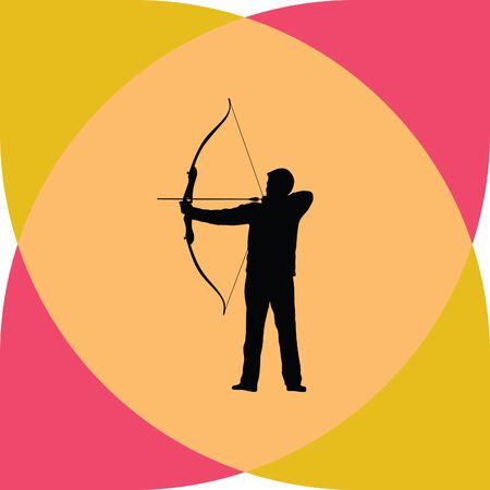 arco y flecha: Archer arco de flecha Vectores