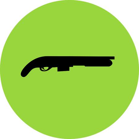 violence and trigger: shotgun Illustration