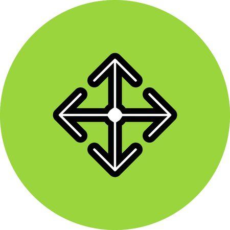 forth: arrow move vector icon