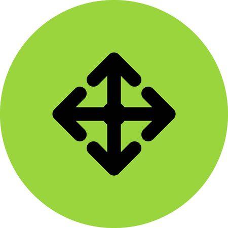 course of action: arrow move vector icon